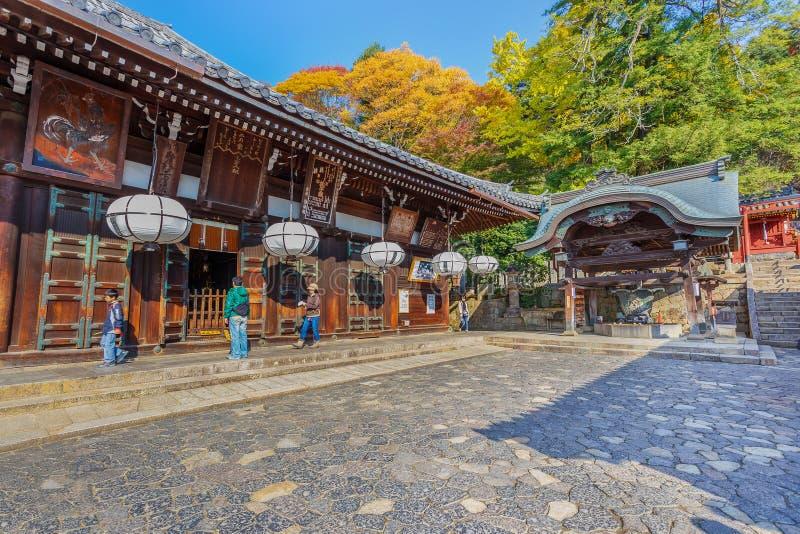 Nigatsu-font Hall de complexe de Todi-JI à Nara photo libre de droits