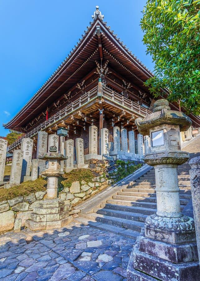 Nigatsu-font Hall de complexe de Todi-JI à Nara photo stock