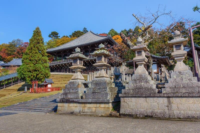 Nigatsu-font Hall de complexe de Todi-JI à Nara photographie stock libre de droits