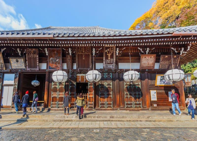 Nigatsu-font Hall de complexe de Todi-JI à Nara photographie stock