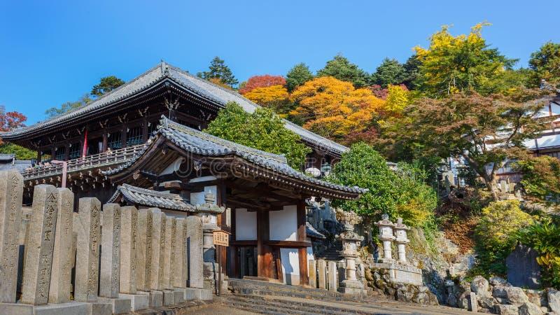 Nigatsu-font Hall de complexe de Todi-JI à Nara image stock