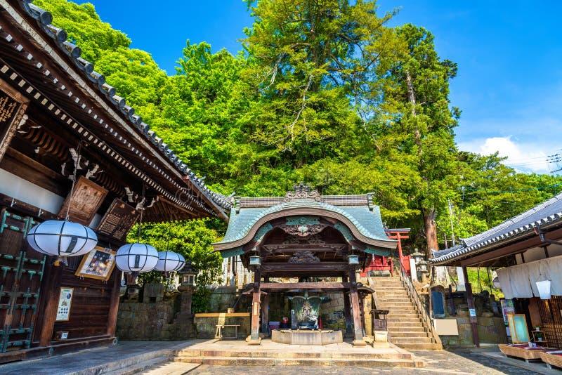 Nigatsu-font, un hall de temple de Todai-JI à Nara photo stock