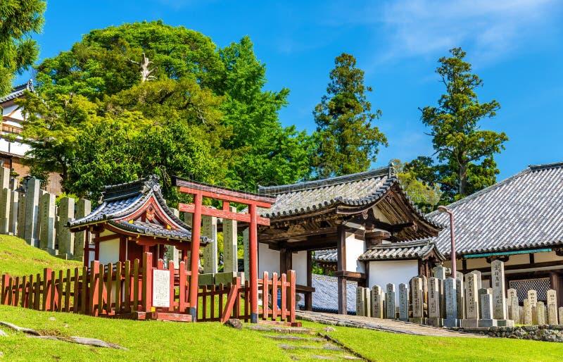 , Nigatsu-tun eine Halle von Todai-jitempel in Nara lizenzfreie stockbilder