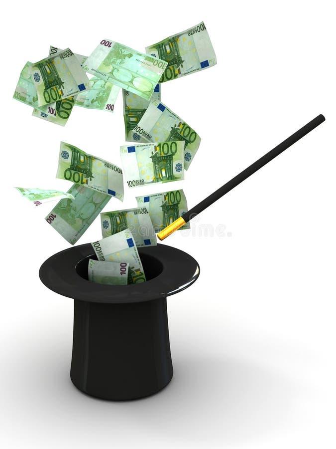 nigdzie magiczny pieniądze ilustracja wektor