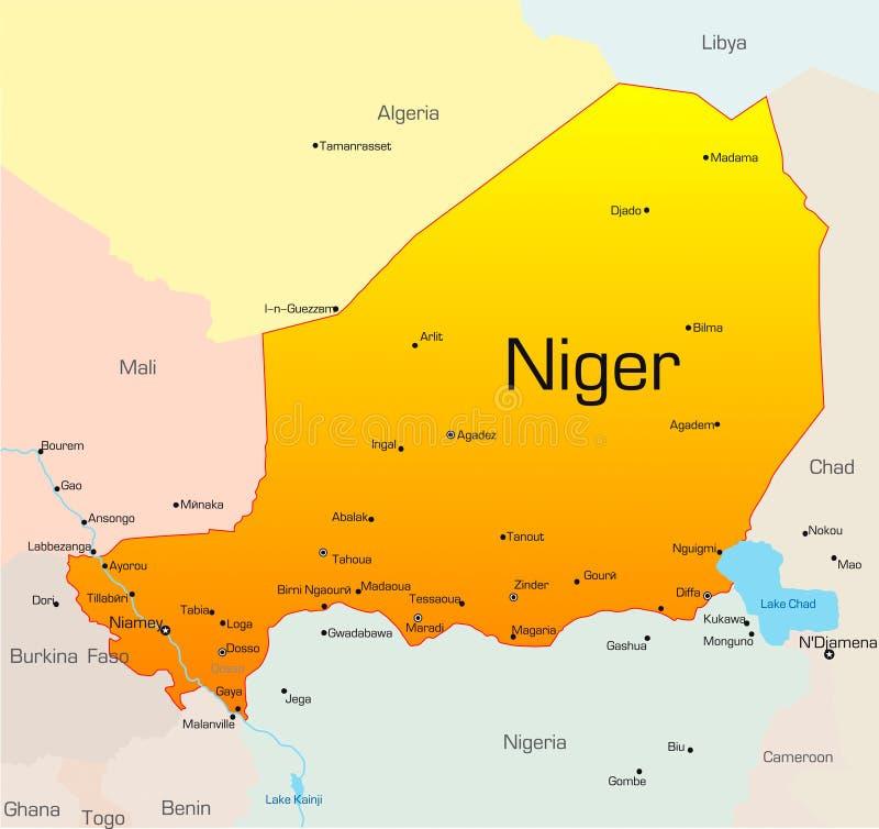 Niger royaltyfri illustrationer
