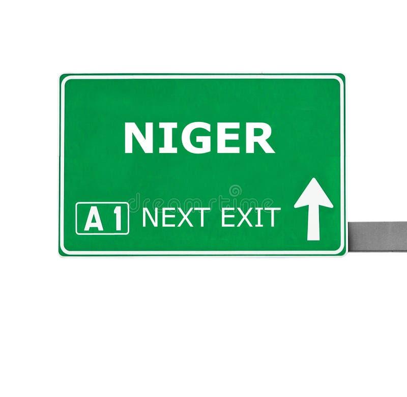 NIGER drogowy znak odizolowywający na bielu obrazy royalty free