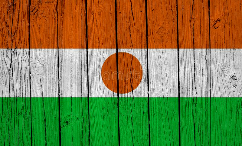Niger Flag Over Wood Planks royalty free stock images