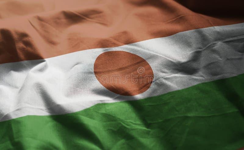 Niger Flag Rumpled Close Up fotografía de archivo libre de regalías