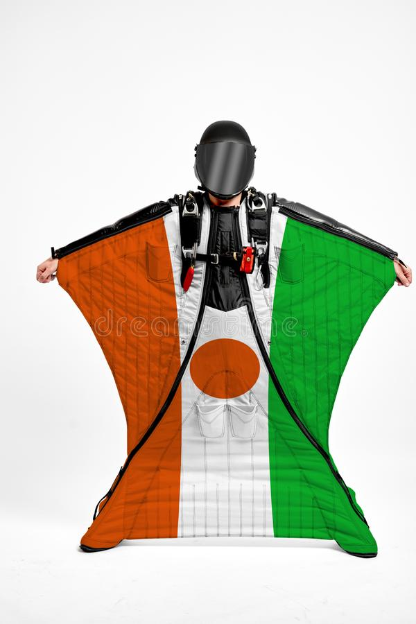 Niger flag travel. royalty free stock photography