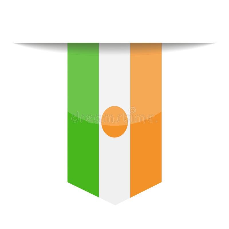 Niger Flag Vector Bookmark Icon libre illustration