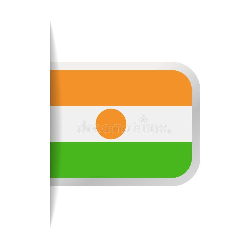 Niger Flag Vector Bookmark Icon ilustración del vector