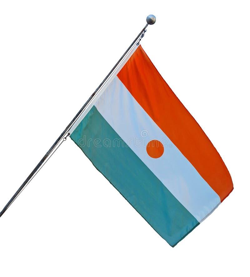 Niger flaga państowowa zdjęcie royalty free