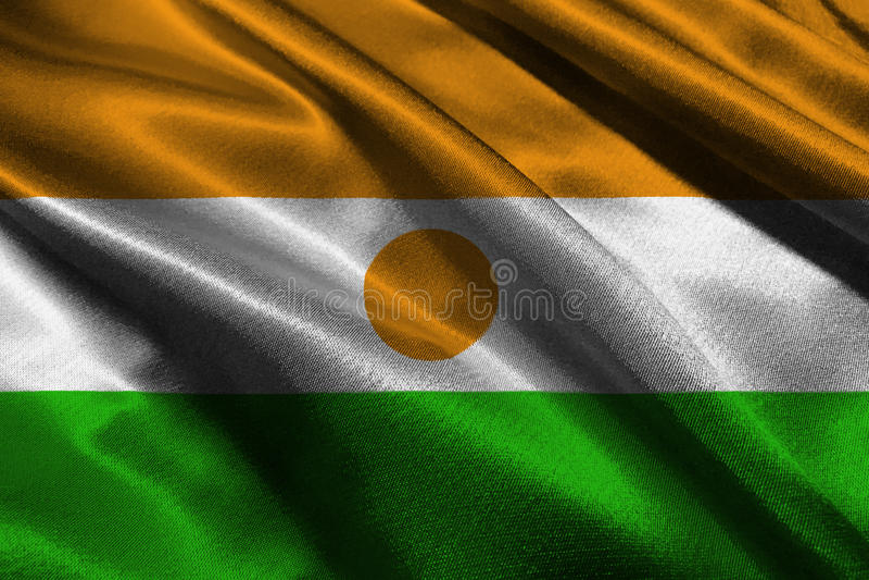 Niger flaga państowowa 3D ilustraci symbol Niger flaga fotografia stock
