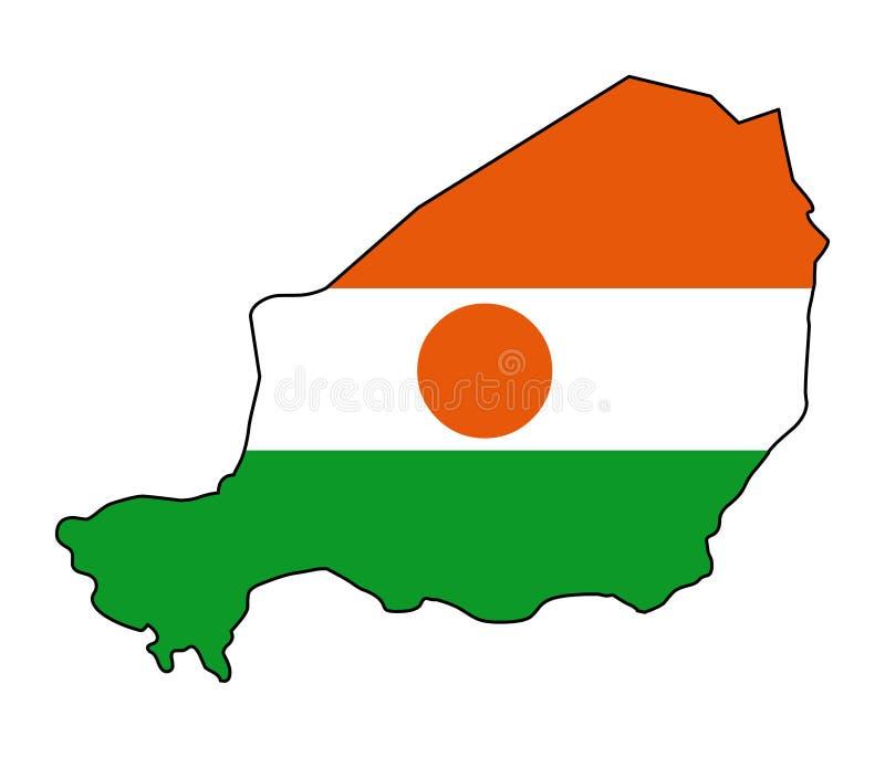 niger Mapa del ejemplo del vector de Nigeria stock de ilustración