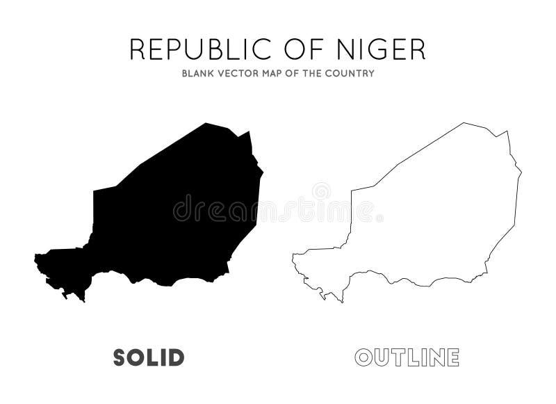 Niger mapa ilustracja wektor