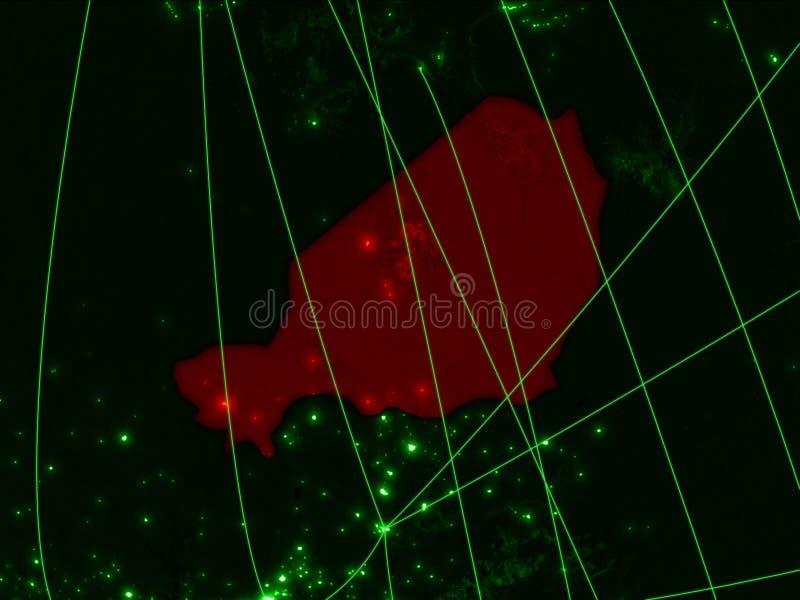 Niger på grön översikt fotografering för bildbyråer