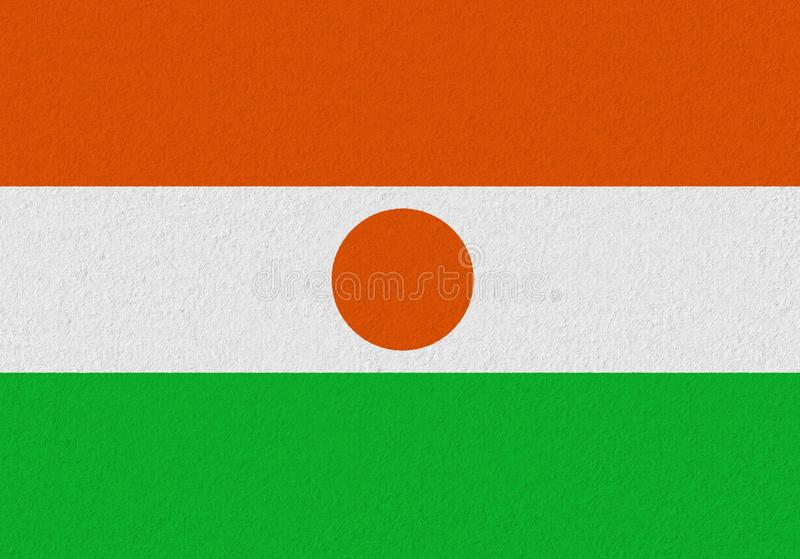Niger paper flag stock images