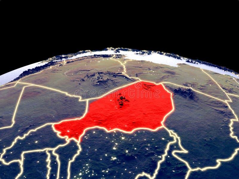 Niger ter wereld van ruimte vector illustratie