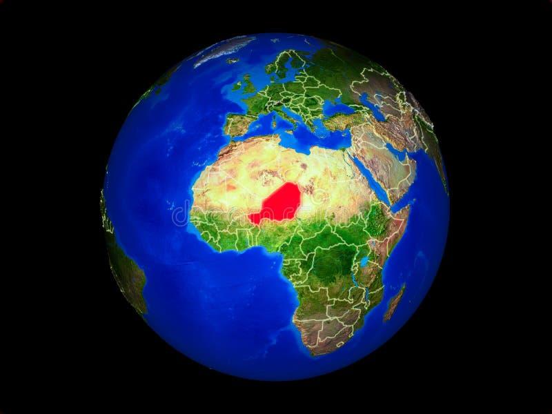 Niger ter wereld van ruimte royalty-vrije illustratie