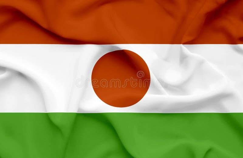 Niger vinkande flagga royaltyfri foto