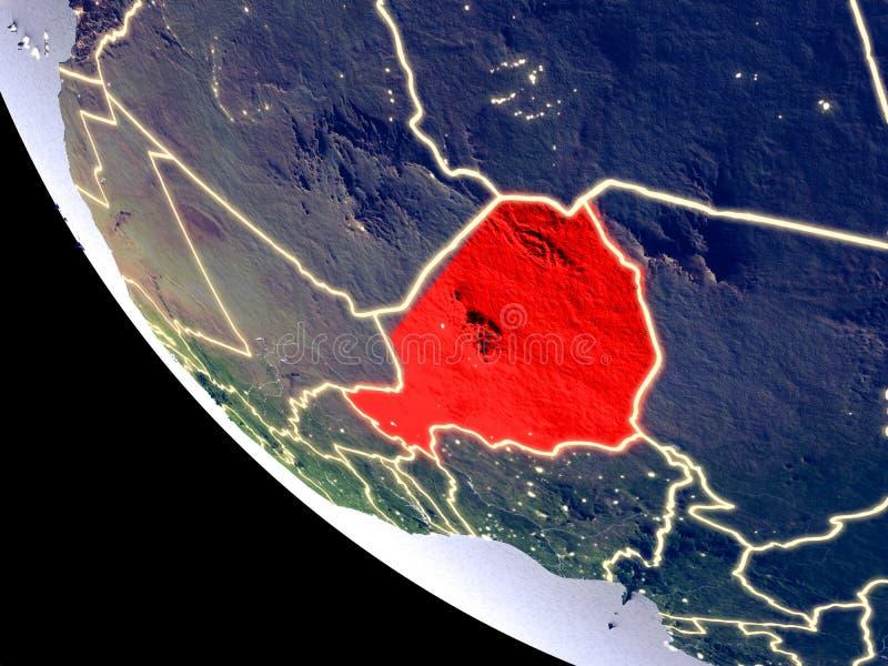 Niger vom Raum auf Erde lizenzfreies stockfoto
