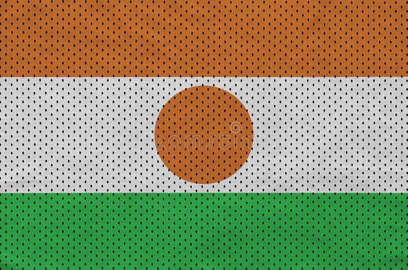 Niger zaznacza drukowanego na poliestrowej nylonowej sportswear siatki tkaninie w ilustracja wektor