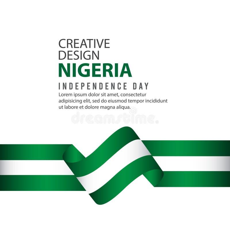 Nigeria dnia niepodległości świętowania Kreatywnie projekta Ilustracyjny Wektorowy szablon ilustracja wektor