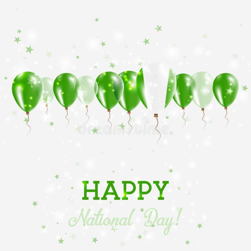 Nigeria dnia niepodległości Błyskać Patriotyczny royalty ilustracja
