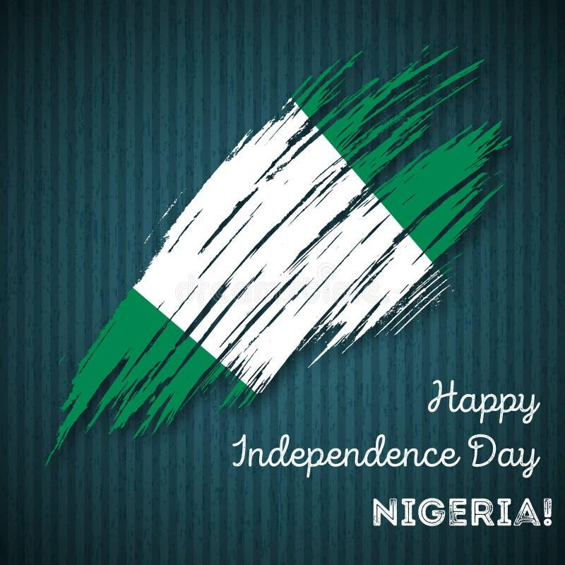 Nigeria dnia niepodległości Patriotyczny projekt ilustracja wektor