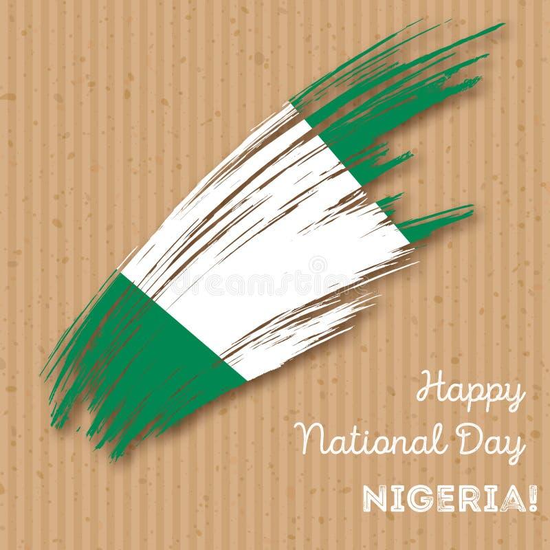 Nigeria dnia niepodległości Patriotyczny projekt ilustracji
