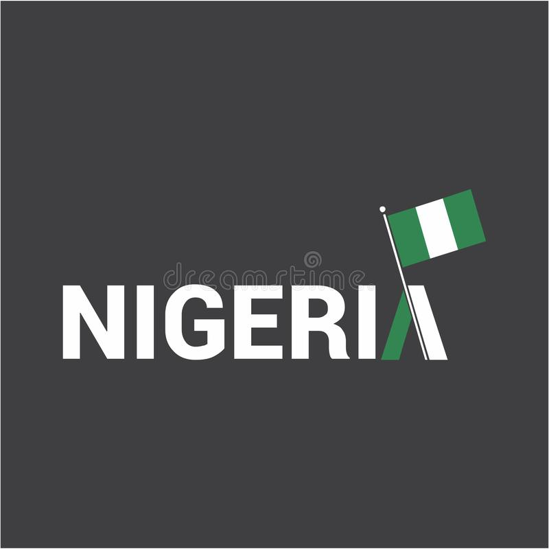Nigeria dnia niepodległości projekta wektor ilustracja wektor