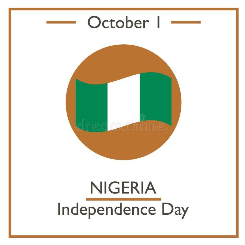 Nigeria dzień niepodległości, Październik 1 ilustracja wektor