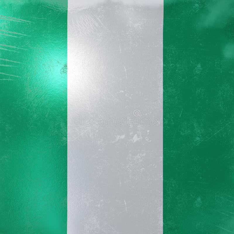 Nigeria flag icon royalty free illustration