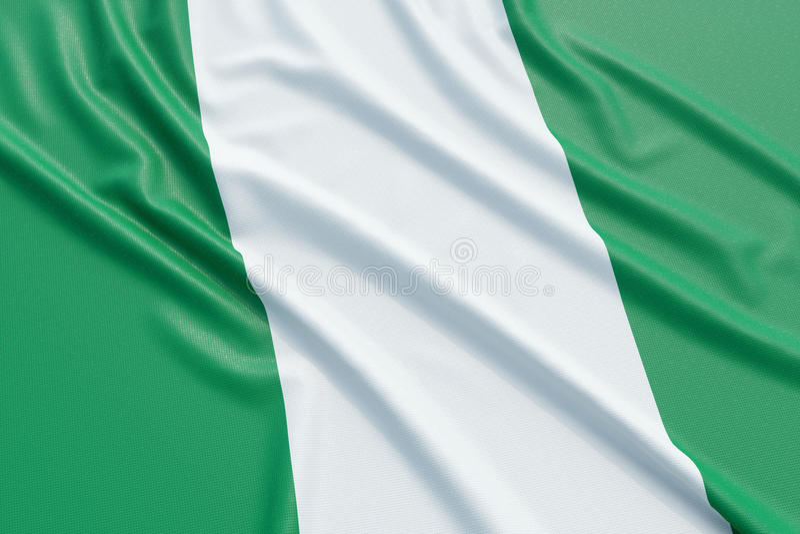 Nigeria flag stock illustration