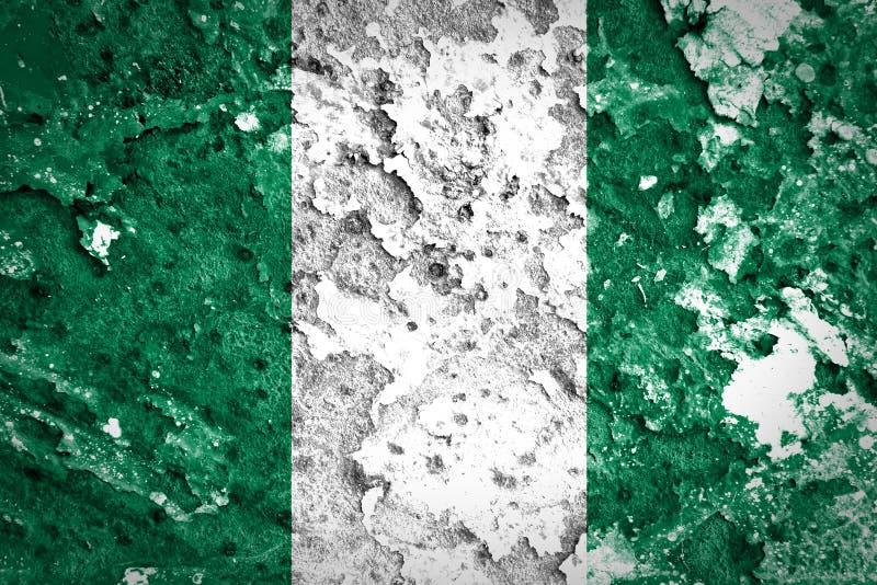 Nigeria flaga zdjęcia stock