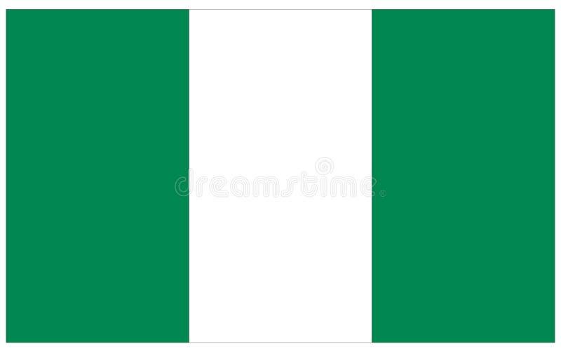 Nigeria flagga - baner, Afrika land royaltyfri illustrationer