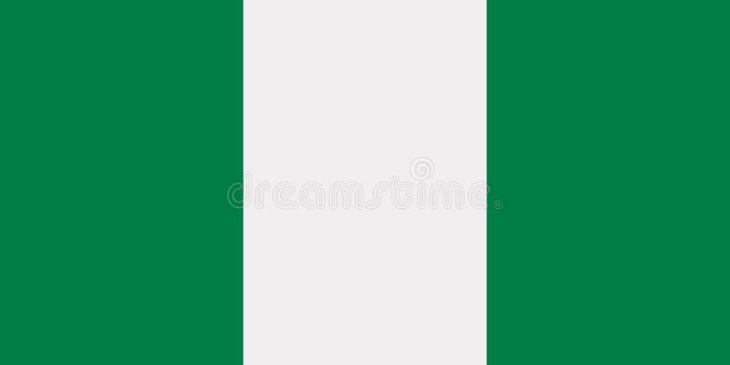 Nigeria flaggavektor vektor illustrationer