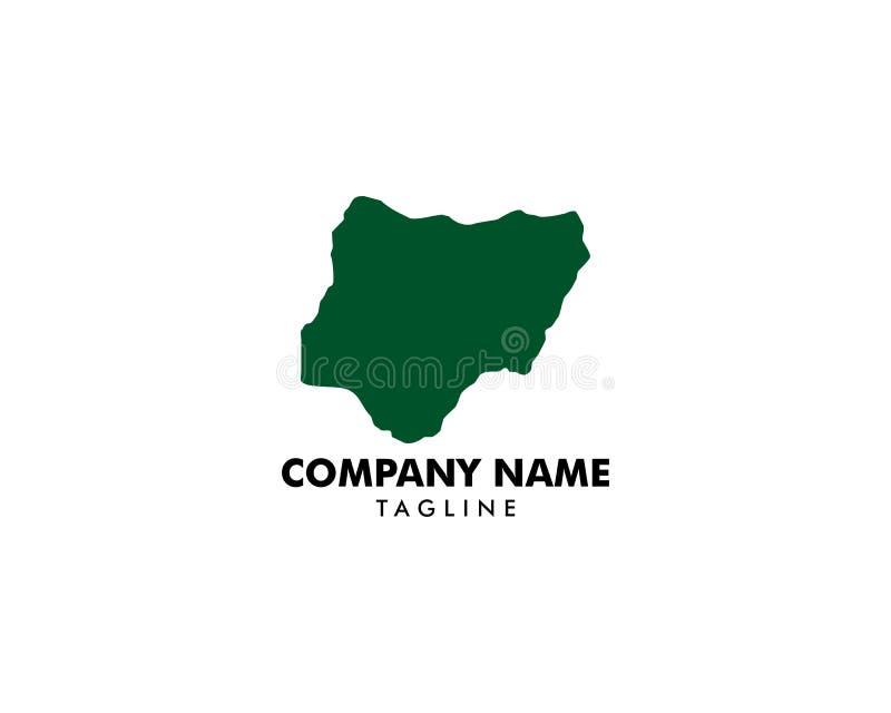 Nigeria map logo design inspiration. Nigeria map logo royalty free illustration