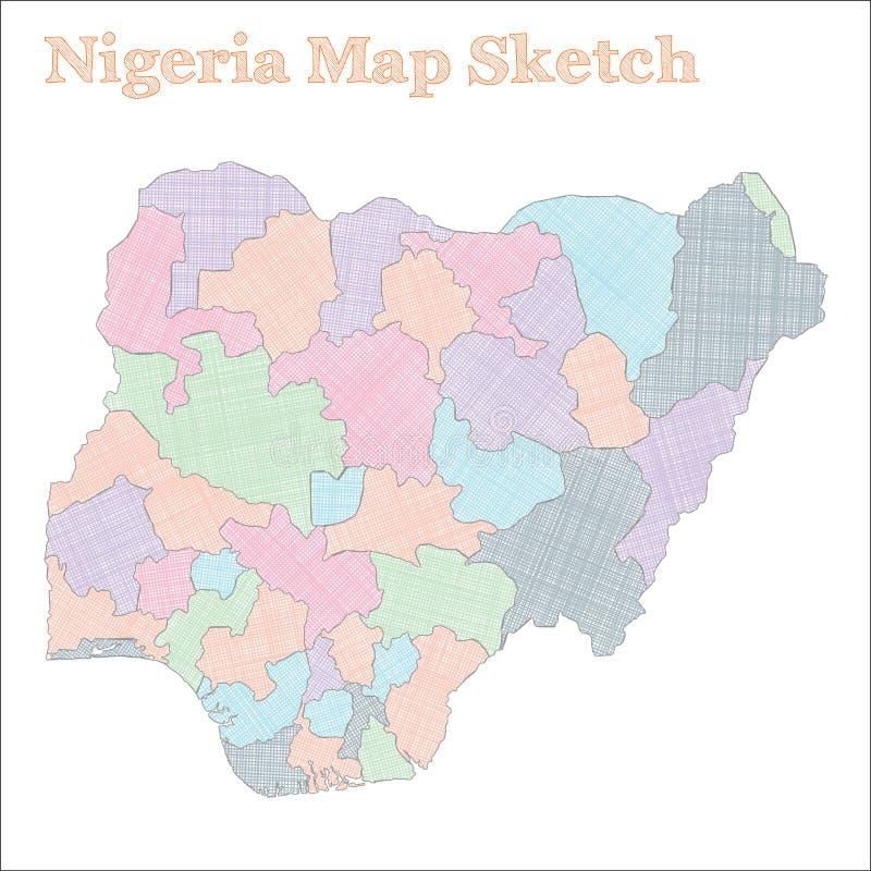 Nigeria mapa ilustracja wektor