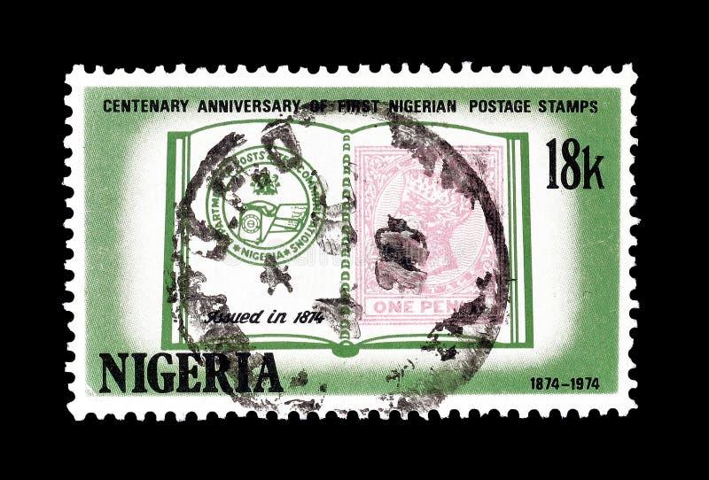 Nigeria na znaczkach pocztowych obraz royalty free