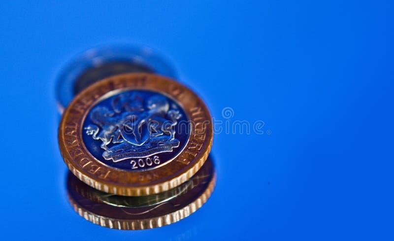 Nigeria Naira moneta 2 zdjęcia royalty free