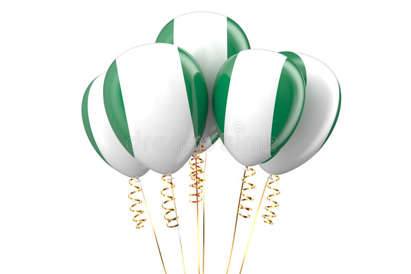 Nigeria patriotic balloons. Holyday concept royalty free illustration