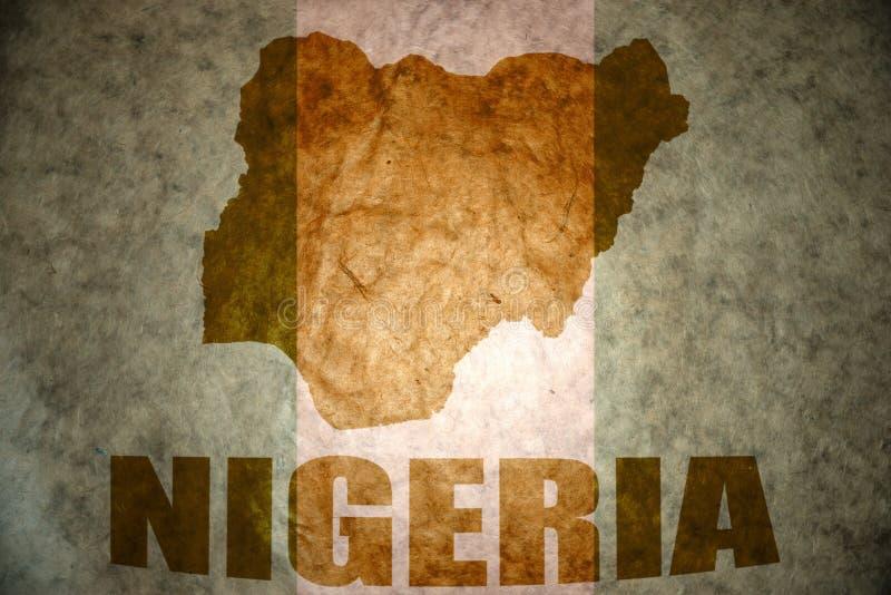 Nigeria rocznika mapa obraz royalty free