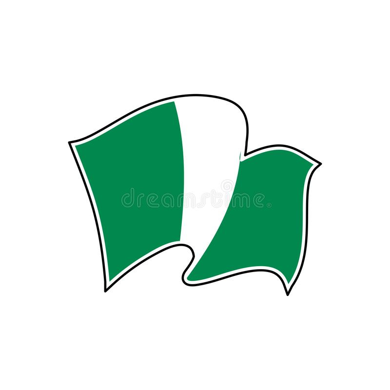 Nigeria-Staatsflagge Auch im corel abgehobenen Betrag abuja stock abbildung
