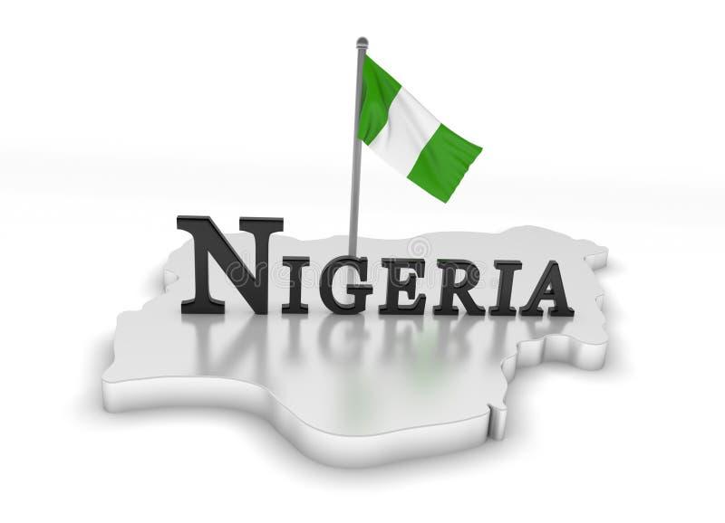 Nigeria-Tribut stock abbildung