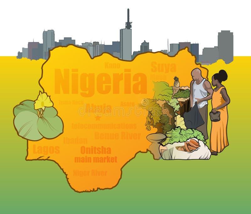 Nigeria-Vektor illustratives Compostion vektor abbildung