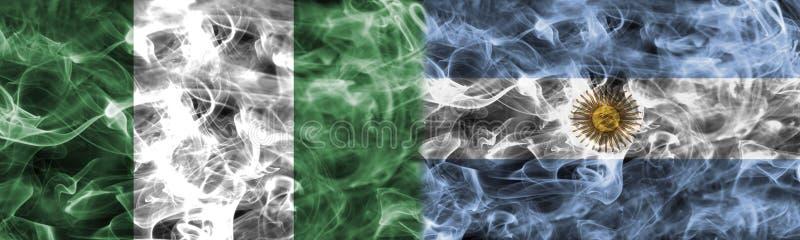 Nigeria vs Argentina rökflagga, grupp D, cu för Fifa-fotbollvärld stock illustrationer