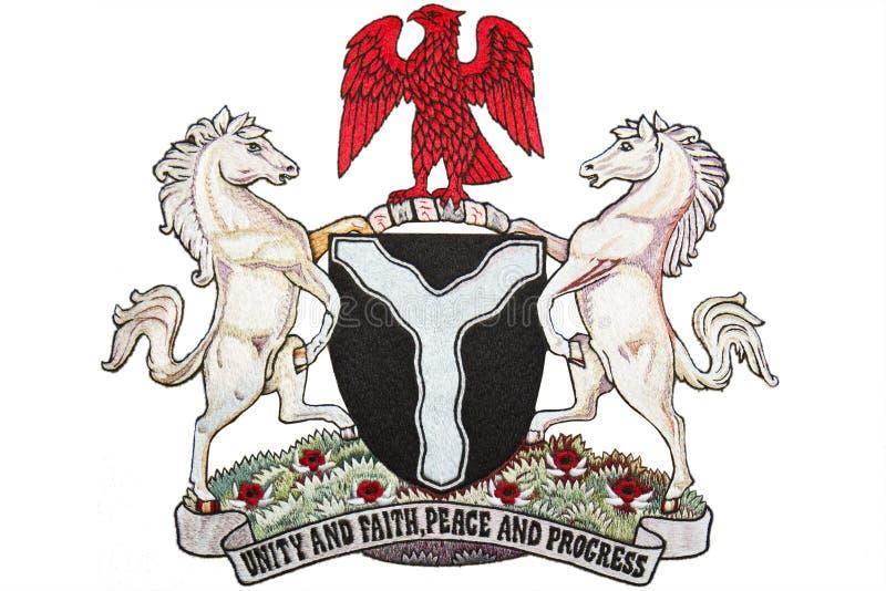 Nigeria-Wappen lizenzfreie stockfotografie