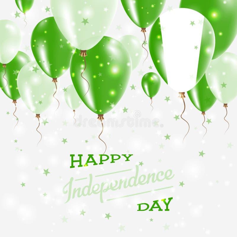 Nigeria Wektorowy Patriotyczny plakat tła dzień grunge niezależność retro ilustracji
