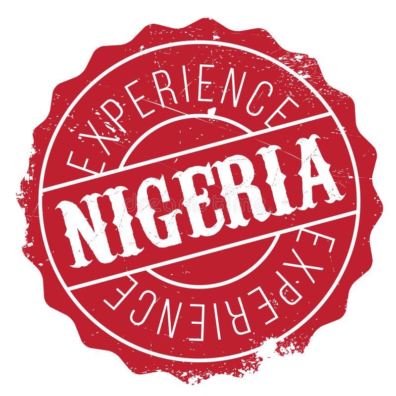 Nigeria znaczka gumy grunge obrazy royalty free